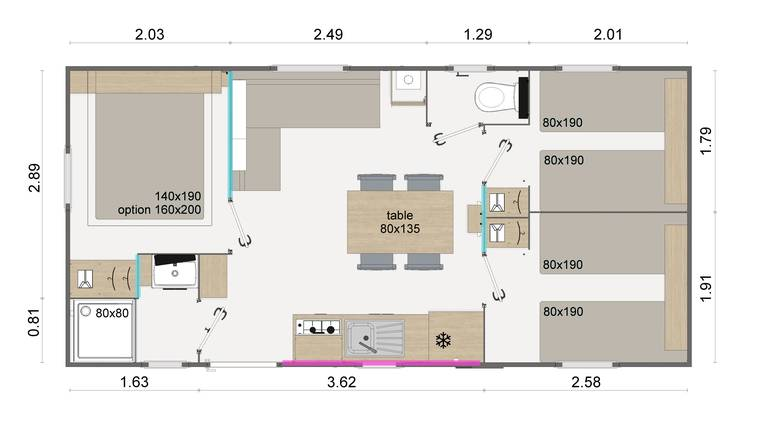 location-mobilhome-paris-lodge-6p-plan